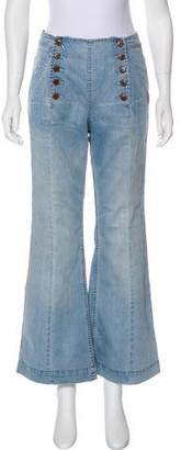 Ulla Johnson Mid-Rise Wide-Leg Jean w/ Tags