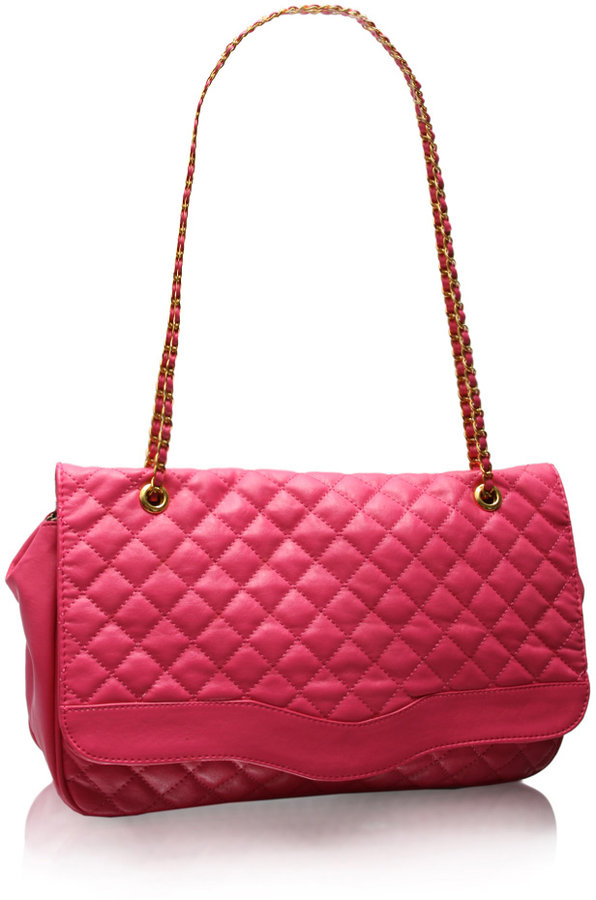 Marc B Oversized Bright Quilted Chain Shoulder Bag