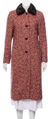 Luciano Barbera Fur-Trimmed Long Coat