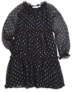 Stella McCartney Little Girl's& Girl's Metallic Polka Dot Dress