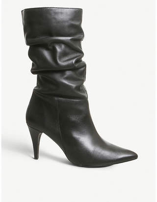 Office Keepsake slouchy leather boots