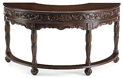 Desk, Carved Demilune