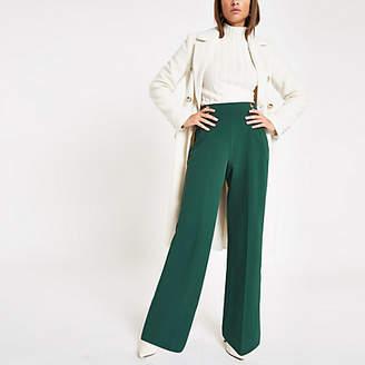 River Island Dark green wide leg double button pants