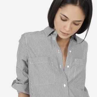 Everlane The Striped Cotton Poplin Shirt Dress