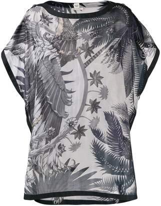 Hermes Pre-Owned 2000's palm trees kaftan top