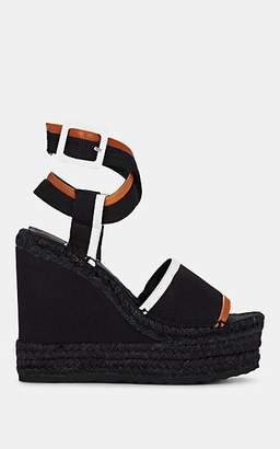 Pierre Hardy Women's Leather & Canvas Platform Wedge Espadrille Sandals - Black