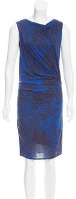 Helmut Lang Abstract Print Knit Dress