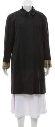 Burberry Wool Blend Single-Breasted Trench Coat