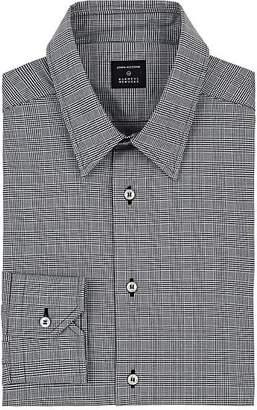John Vizzone Men's Checked Cotton Poplin Dress Shirt