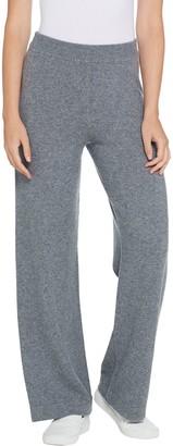Isaac Mizrahi Live! 2-Ply Cashmere Wide Leg Lounge Pants