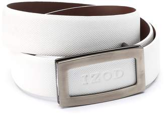 Izod Men's Cutout Logo Plaque Golf Belt