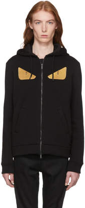 Fendi Black Wool Bag Bugs Hoodie