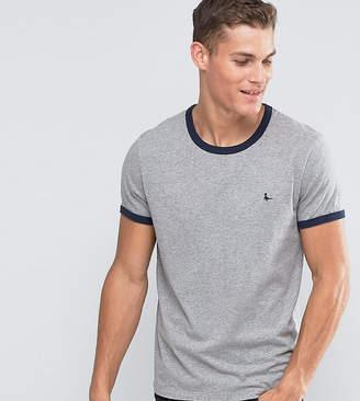 Jack Wills ringer t-shirt in regular fit in gray exclusive