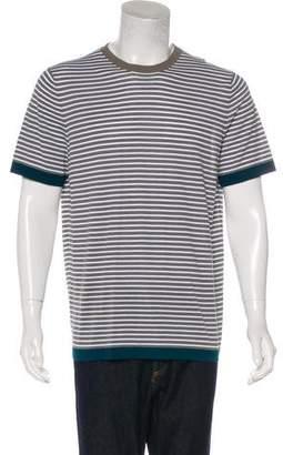 Hermes Striped Knit T-Shirt w/ Tags