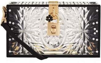 Dolce & Gabbana Embellished Plexiglass Box Clutch