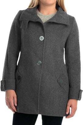 Kristen Blake Australian Wool Coat - Funnel Neck (For Women) $69.99 thestylecure.com