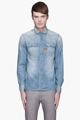 G Star G-STAR Pale blue denim Construct shirt