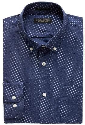 Banana Republic NEW Slim-Fit Tech-Stretch Cotton Dot Shirt