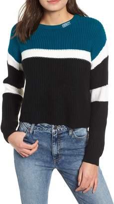 Obey Allie Colorblock Crewneck Sweater