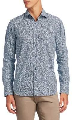 Saks Fifth Avenue COLLECTION Mosaic Cotton Button-Down Shirt