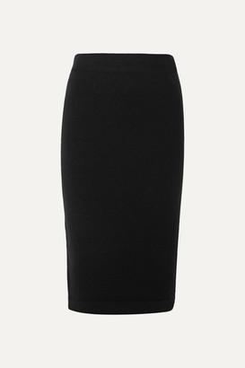 Tom Ford Ribbed Cashmere-blend Pencil Skirt - Black