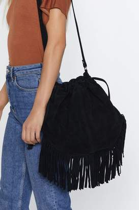 Nasty Gal Want Can You Be Suede Bucket Bag