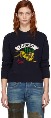 Kenzo Navy Limited Edition Jumping Tiger Sweater