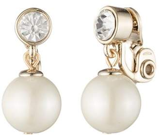 Ralph Lauren Simulated Pearl Clip-On Earrings