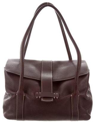 Loro Piana Grained Leather Flap Bag