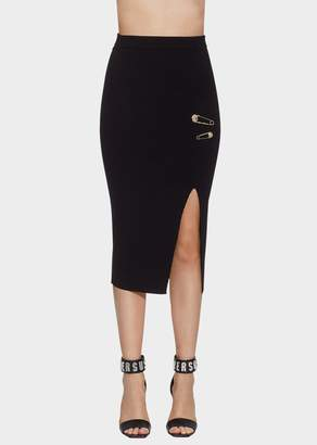 Versace Cut-Out Safety Pin Skirt