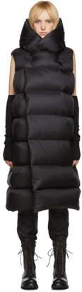 Rick Owens Black Down Liner Coat