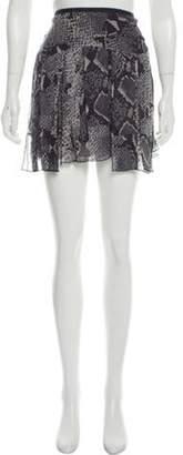 Diane von Furstenberg Animal Print Mini Skirt Grey Animal Print Mini Skirt