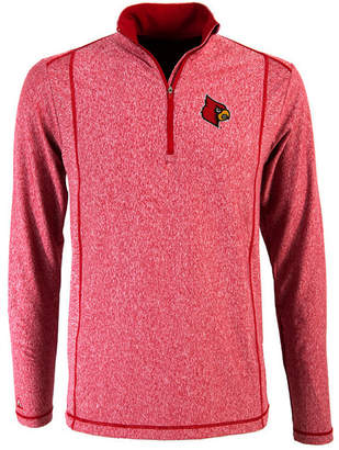 Antigua Men's Louisville Cardinals Tempo Quarter-Zip Pullover