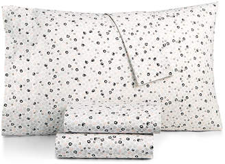 BCBGeneration Cotton Percale 200 Thread Count Ditsy Floral Twin Sheet Set Bedding
