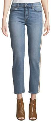 Hudson Nico Mid-Rise Cigarette Jeans w/ Side Stripes