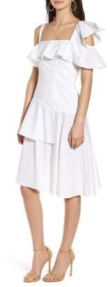 KENDALL + KYLIE Kendall & Kylie Ruffle One-Shoulder Dress