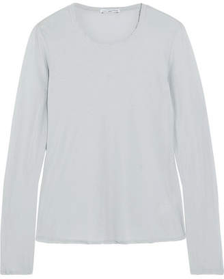 James Perse - Cotton-jersey Top - Sky blue $135 thestylecure.com