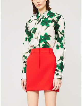 c7771f9c52 Calvin Klein Side-stripe wool skirt