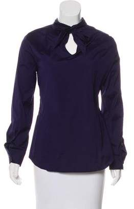 DSQUARED2 Mock Neck Long Sleeve Top