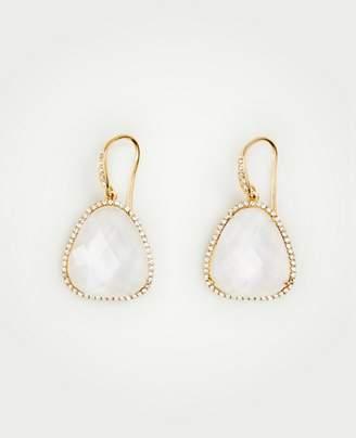 Ann Taylor Wide Bezel Drop Earrings