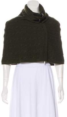 Ralph Lauren Black Label Cashmere Cable Knit Poncho