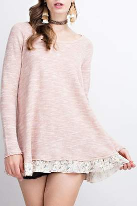 Easel French-Terry Blush Tunic