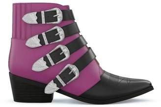 Toga Pulla multi buckle western boots