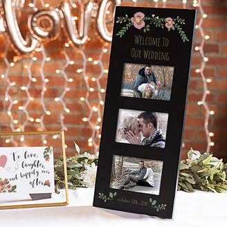 Cathy's Concepts Cathys Concepts Personalized Three Window Wedding Floral Picture Frame