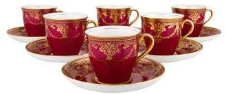 Vintage Aynsley 12-Piece Bone China Demitasse Set