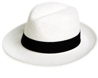 Women's Halogen Straw Panama Hat - White $39 thestylecure.com