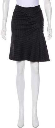 David Szeto Wool Pencil Skirt