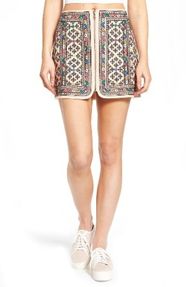 Women's Majorelle Port Embroidered Zip Skirt $198 thestylecure.com