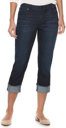JLO by Jennifer Lopez Women's Cuffed Capri Jeans