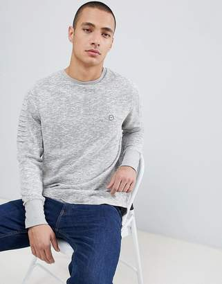 Le Breve Crew Neck Sweater with Arm Ribbed